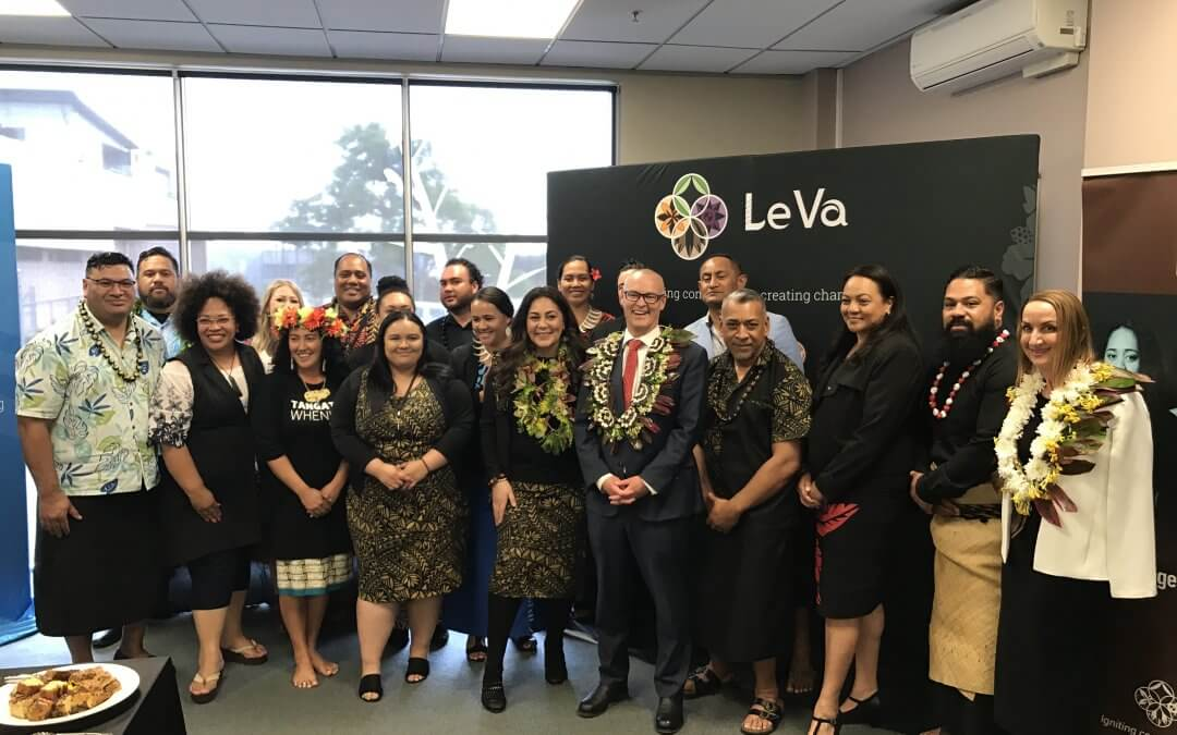 Minister of Health, Hon David Clark, visits Le Va to announce further funding for workforce development